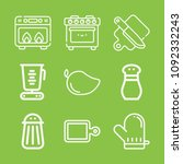 cooking icon set   outline... | Shutterstock .eps vector #1092332243