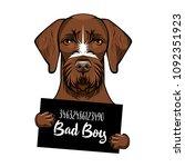 german shorthaired pointer dog. ... | Shutterstock .eps vector #1092351923