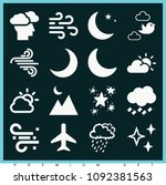 set of 16 sky filled icons such ... | Shutterstock .eps vector #1092381563