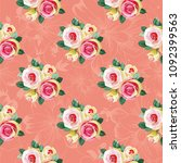 seamless floral pattern with... | Shutterstock .eps vector #1092399563