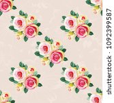 seamless floral pattern with... | Shutterstock .eps vector #1092399587