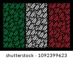 italian official flag flat... | Shutterstock .eps vector #1092399623