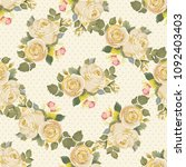 seamless floral pattern with... | Shutterstock .eps vector #1092403403
