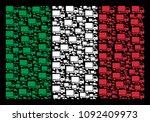 italy flag flat concept...   Shutterstock .eps vector #1092409973