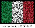 italy official flag flat... | Shutterstock .eps vector #1092413693