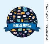 social media design | Shutterstock .eps vector #1092427967