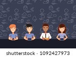social media design | Shutterstock .eps vector #1092427973