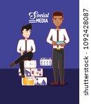 social media design | Shutterstock .eps vector #1092428087