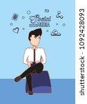 social media design | Shutterstock .eps vector #1092428093