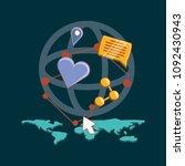 social media design | Shutterstock .eps vector #1092430943