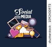 social media design | Shutterstock .eps vector #1092430973