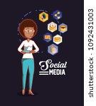 social media design | Shutterstock .eps vector #1092431003