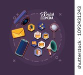 social media design | Shutterstock .eps vector #1092431243