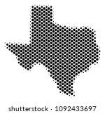 abstract texas map. vector... | Shutterstock .eps vector #1092433697