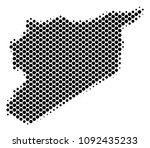 abstract syria map. vector... | Shutterstock .eps vector #1092435233