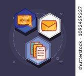 social media design | Shutterstock .eps vector #1092439337
