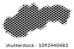 abstract slovakia map. vector... | Shutterstock .eps vector #1092440483