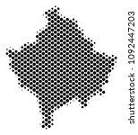 abstract kosovo map. vector... | Shutterstock .eps vector #1092447203
