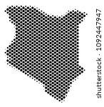 abstract kenya map. vector... | Shutterstock .eps vector #1092447947