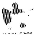 abstract guadeloupe map. vector ... | Shutterstock .eps vector #1092448787