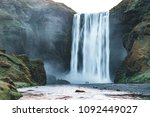powerful stream of the famous... | Shutterstock . vector #1092449027