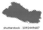 abstract el salvador map.... | Shutterstock .eps vector #1092449687