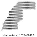 schematic western sahara map.... | Shutterstock .eps vector #1092450437