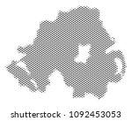 schematic northern ireland map. ... | Shutterstock .eps vector #1092453053