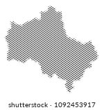 schematic moscow oblast map.... | Shutterstock .eps vector #1092453917