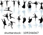 illustration with ballet dancer ... | Shutterstock . vector #109246067