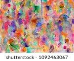 paint splatters on paper   blobs   Shutterstock . vector #1092463067
