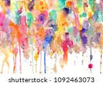 paint splatters on paper   blobs   Shutterstock . vector #1092463073