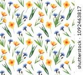 watercolor seamless pattern... | Shutterstock . vector #1092463817