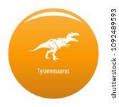tyrannosaurus icon. simple... | Shutterstock .eps vector #1092489593