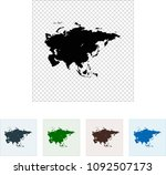 map of asia | Shutterstock .eps vector #1092507173