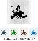 map of europe | Shutterstock .eps vector #1092507197