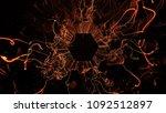 3d render abstract background.... | Shutterstock . vector #1092512897