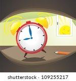 morning alarm clock ringing | Shutterstock .eps vector #109255217
