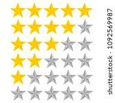5 star rating. vector...   Shutterstock .eps vector #1092569987