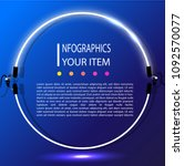 neon infographic vector with...