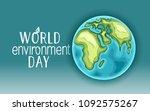 happy world environment day... | Shutterstock .eps vector #1092575267