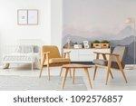 yellow and gray modern... | Shutterstock . vector #1092576857