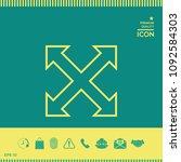 extend  resize  enlarge line...   Shutterstock .eps vector #1092584303