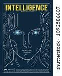 humans vs robots. ai artificial ... | Shutterstock .eps vector #1092586607