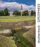 Small photo of Outer wall of town defense and early christian basilica in Aquileia, Friuli, Venezia Giulia, Italy