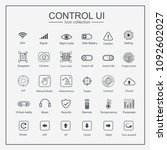 control ui icon collection set  ...
