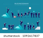 flat illustration with... | Shutterstock . vector #1092617837