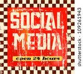 vintage social media sign | Shutterstock .eps vector #109261943