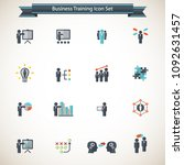 business training icon set | Shutterstock .eps vector #1092631457
