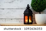 beautiful vintage candle light... | Shutterstock . vector #1092636353